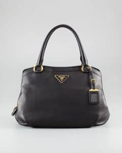 Prada Black Cervo Shoulder Bag