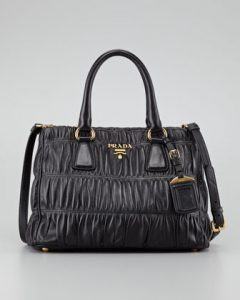 Prada Black Gaufre Tote Small Bag