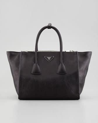 prada black canvas bag