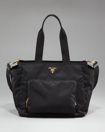 prada crossbody tote - Kourtney Kardashian with Prada Nylon Baby Bag | Spotted Fashion