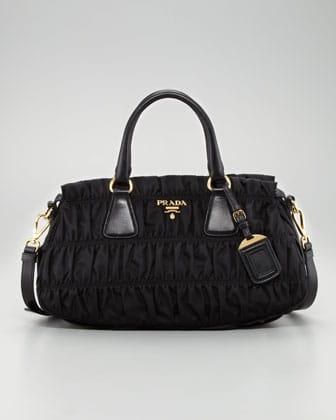 5b979a261a1b Prada Black Nylon Gaufre Small Tote Bag