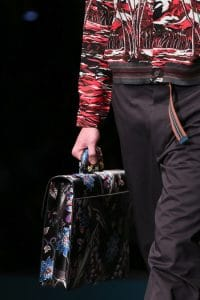 Prada Black Printed Briefcase Bag - Spring 2014
