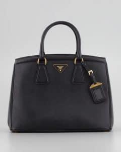 Prada Black Saffiano Parabole Tote Bag