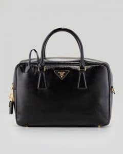 Prada Black Saffiano Vernice TV Bag