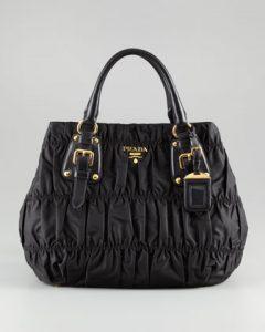 Prada Black Tessuto Gaufre Tote Bag