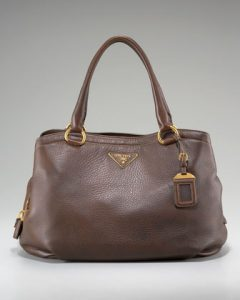 Prada Brown Cervo Shoulder Bag