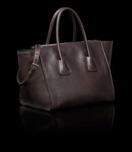 Prada Brown Glace Calfskin Twin Pocket Tote Bag 3