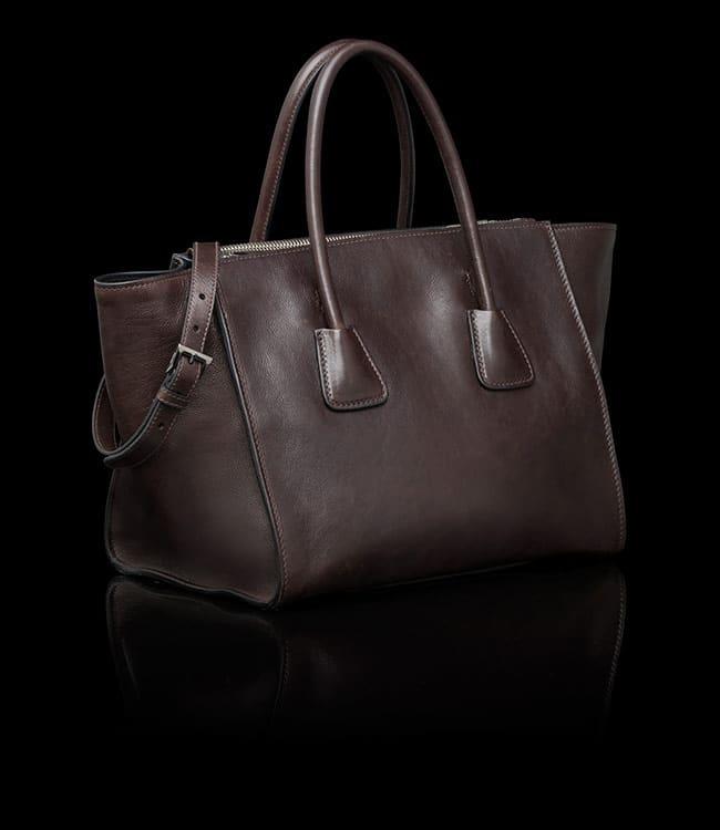 1977409862 Prada Brown Glace Calfskin Twin Pocket Tote Bag 3