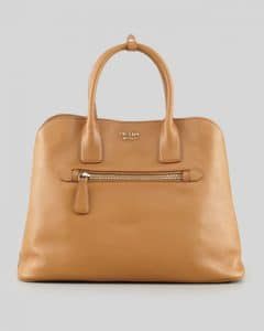 Prada Brown Saffiano Cuir Open Promenade Tote Bag