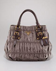 Prada Brown Tessuto Gaufre Tote Bag