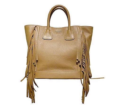 prada shoulder bag fringe