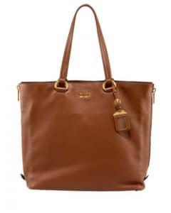 Prada Camel Cervo Tote Bag