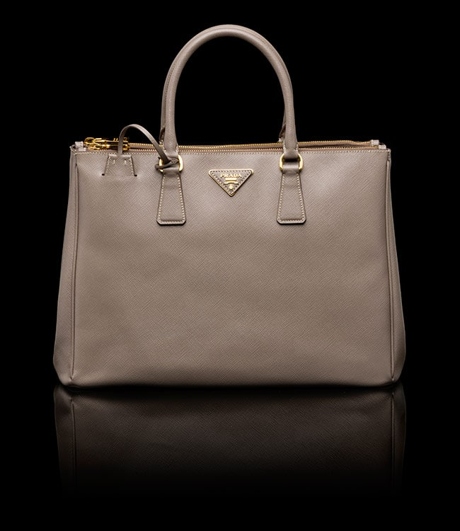 3205a5d04f prada grey saffiano bag