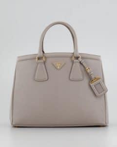 Prada Gray Saffiano Parabole Tote Bag