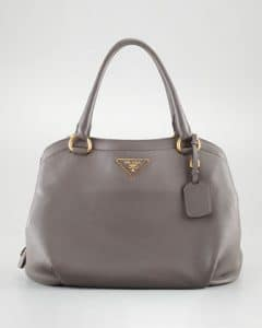 Prada Grey Cervo Shoulder Bag