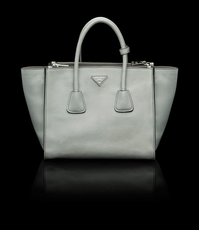 prada grey bag
