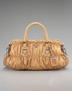 Prada Tan Napa Gaufre Satchel Small Bag