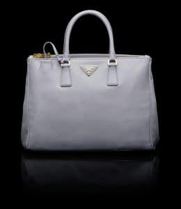 Prada Wisteria Saffiano Top Handle Large Bag