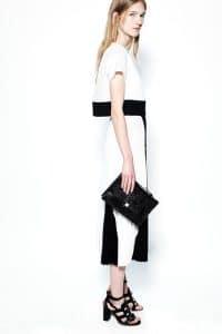 Proenza Schouler Black Crocodile Flap Bag - Resort 2014