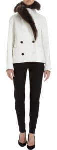 Proenza Schouler Fur Collar Crackled Leather Jacket - $4,850.00 (USD)