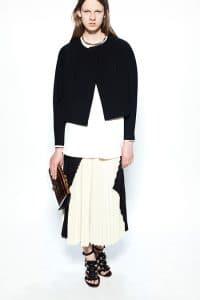 Proenza Schouler White/Black/Orange Flap Bag 1 - Resort 2014