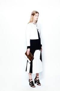 Proenza Schouler White/Black/Orange Flap Bag 2 - Resort 2014