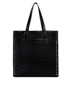 Valentino Black Rockstud North/South Tote Bag