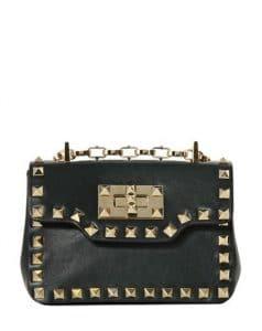 Valentino Black Rockstud Shoulder Bag