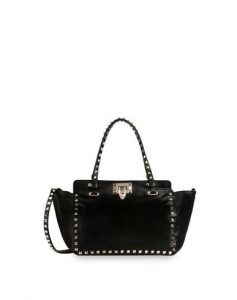 Valentino Black Rockstud Tote Mini Bag