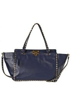 Valentino Blue Rockstud Medium Bag