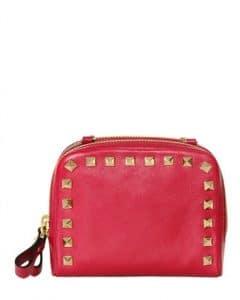 Valentino Fuchsia Soft Leather Rockstud Shoulder Bag