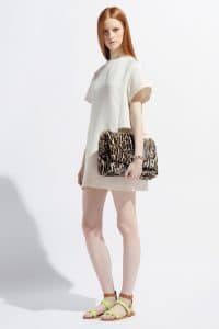 Valentino Leopard Print Flap Bag with Chain - Resort 2014
