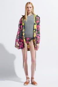 Valentino Pink Camo Print Va Va Voom Clutch Bag - Resort 2014
