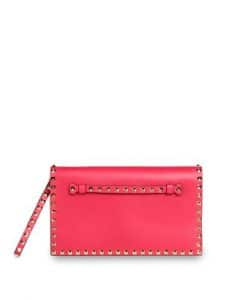 Valentino Pink Rockstud Clutch Bag