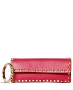 Valentino Red Rockstud Clutch Small Bag