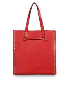 Valentino Red Rockstud North/South Tote Bag
