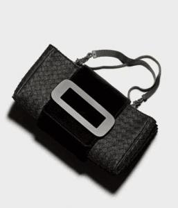 Bottega Veneta Nero Carta Intrecciata Velvet Bag 2