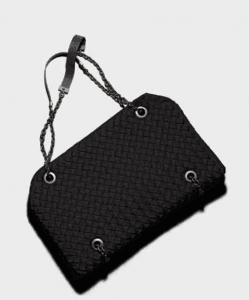 Bottega Veneta Nero Jersey Duo Bag