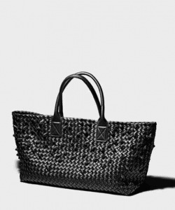 Bottega Veneta Nero Nodini Cabat Bag