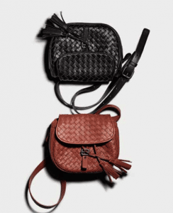 Bottega Veneta Nero/Brique Intrecciato Nappa Messenger Bag