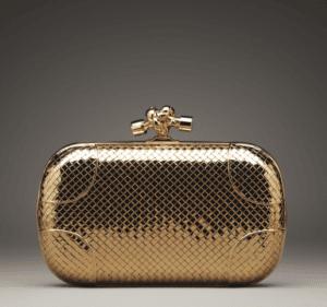 Bottega Veneta Yellow Gold Diamond Knot Bag - Fall 2013