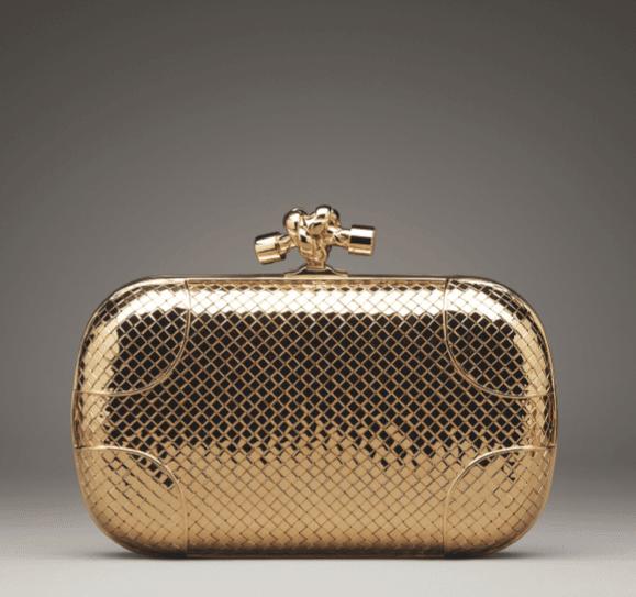 f227eb460c Bottega Veneta Yellow Gold Diamond Knot Bag - Fall 2013