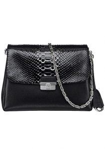 Dior Black Calfskin and Python Diorling Small Bag