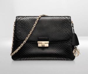 Dior Black Python Diorling Large Bag
