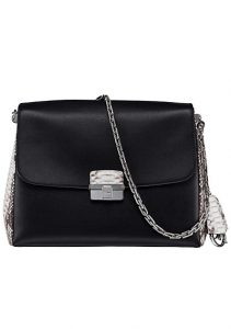 Dior Black/White Calfskin and Python Diorling Small Bag