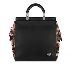 Givenchy Black/Printed Roses House De Givenchy Small Bag