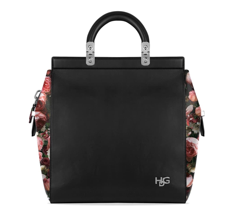 22354c081f Givenchy Black Printed Roses House De Givenchy Small Bag