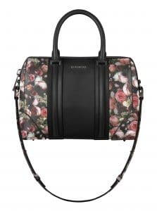 Givenchy Black/Printed Roses Lucrezia Small Bag