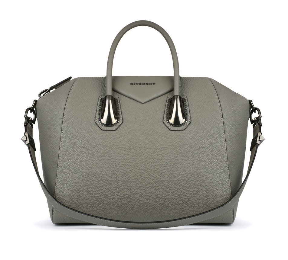 Givenchy Pearl Grey with Metal Hardware Antigona Medium Bag