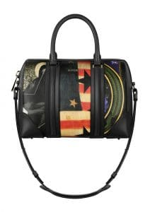 Givenchy Prints on Coated Canvas with Black Nappa Trim Lucrezia Medium Bag